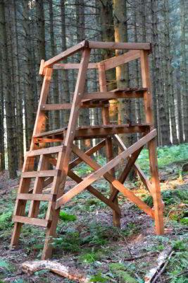 Drückjagdbock Holz alle Hölzer eckig, Kreuzholz, PEFC zertifiziert