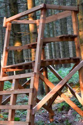 Drückjagdbock Holz Schlossschrauben
